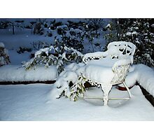 Snow chair ~ Thursday nite Photographic Print
