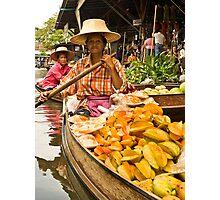 Fruit Boat at Floating Market Photographic Print