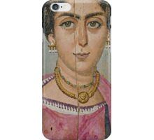 Mummy Portrait- Woman with Necklace iPhone Case/Skin