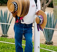 Hot Day Hat Salesman by phil decocco