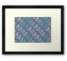 Ornament with leaves Framed Print