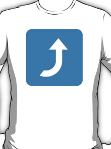 Arrow Pointing Rightwards Then Curving Upwards Twitter Emoji T-Shirt