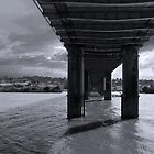 Beneath the Bridge Columns - Murray Bridge, South Australia by Mark Richards
