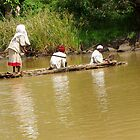 Rafting on Lake Tana in Ethiopia by Laurel Talabere