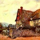 Farmhouse, Pershore, Worcestershire 1906 by Dennis Melling