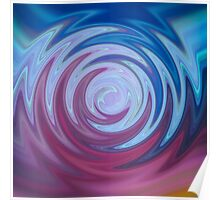 Blue and Purple Swirl Poster