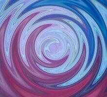 Blue and Purple Swirl by Bamalam Art and Photography