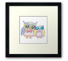 Owl love Framed Print