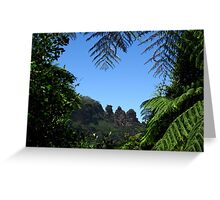 """""""The Three Sisters"""", Katoomba - Viewed from the Jamieson Valley  Greeting Card"""