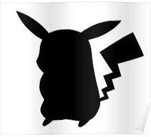 Black Pikachu Poster