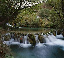 Small waterfall by leksele
