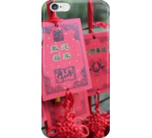 China - red prayer cards iPhone Case/Skin
