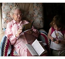 """""""In a moment dear ... Gnana is reading"""" Photographic Print"""