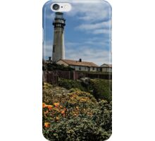 Pigeon Point Lighthouse with Poppies iPhone Case/Skin