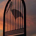 Leaving Jabiru in the Sunset by Huey