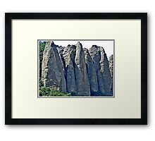 This row of Rocks stretches for about a Mile, this is only a small section Framed Print