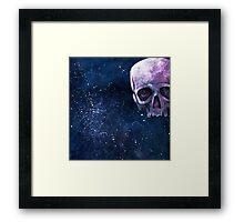 floating skull in space Framed Print