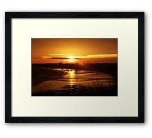 Sunset over Bridlington Framed Print