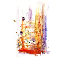 Abstract watercolor design Photographic Print