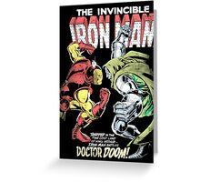 Ironman vs doctor doom Greeting Card