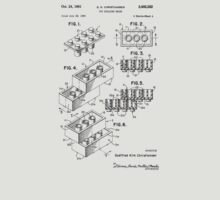 Lego Patent Toy Building Brick Sheet 2-1 Black Font by mecanolego