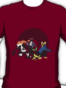 Lucas With Pokemon - Sunset Shores T-Shirt