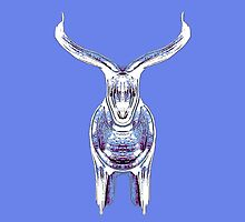 Bull, cornflower and blue by Penny Ward Marcus