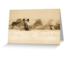 Painted Pups Greeting Card