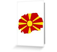 Macedonia map flag Greeting Card
