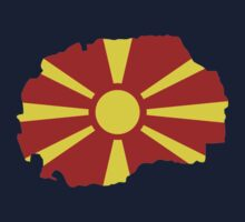 Macedonia map flag Kids Clothes