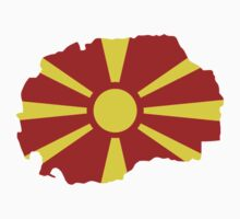 Macedonia map flag by Designzz