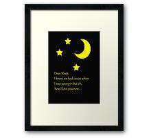 Dear Sleep, I love you Framed Print