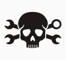 Skull crossed screw wrench T-Shirt