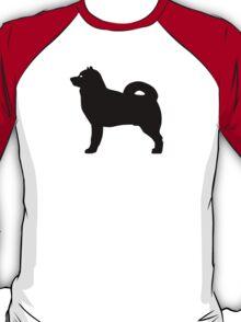 Alaskan Malamute Dog Silhouette T-Shirt