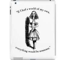 Alice in Wonderland Nonsense iPad Case/Skin