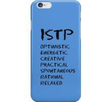 ISTP (Black letters) iPhone Case/Skin
