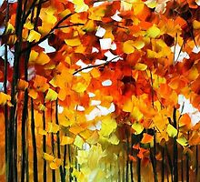 Before The Leafs Fall — Buy Now Link - www.etsy.com/listing/224954188 by Leonid  Afremov