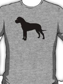 Bullmastiff Dog Silhouette T-Shirt