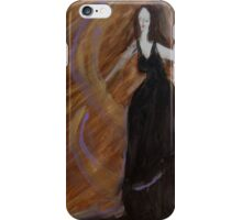 Portrait of a Lady, Brown Background  iPhone Case/Skin