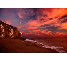 Point Dume with Flare Photographic Print