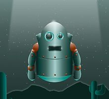 The Lonely Space Robot by Matthew  Weybright