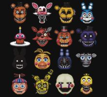 Five Nights at Freddy's - Pixel art - Multiple characters by GEEKsomniac