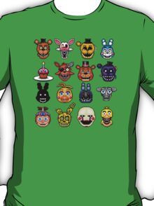 Five Nights at Freddy's - Pixel art - Multiple characters T-Shirt