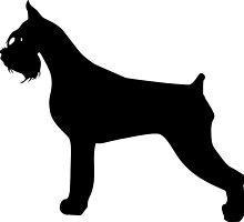 Schnauzer Dog Silhouette by SandpiperDesign