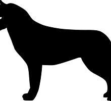 Siberian Husky Dog Silhouette by SandpiperDesign