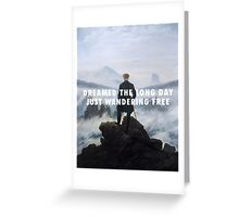 Sleeping Ute | Wanderer above the Sea of Fog Greeting Card