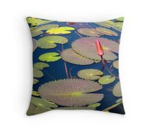 Waterlilly sphere Throw Pillow