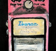 Ibanez Analogue Delay Acrylics On Canvas Board by JamesPeart