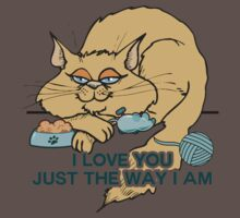 I Love You Funny Cat Graphic Saying Kids Clothes