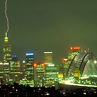 Lightning on Sydney by Sandro Rossi
